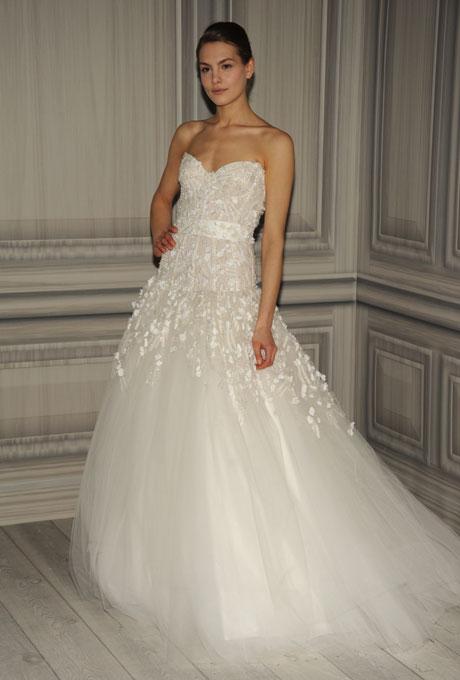 monique lhuillier bridal spring 2012 10?w460 - Gelinlik Modelleri