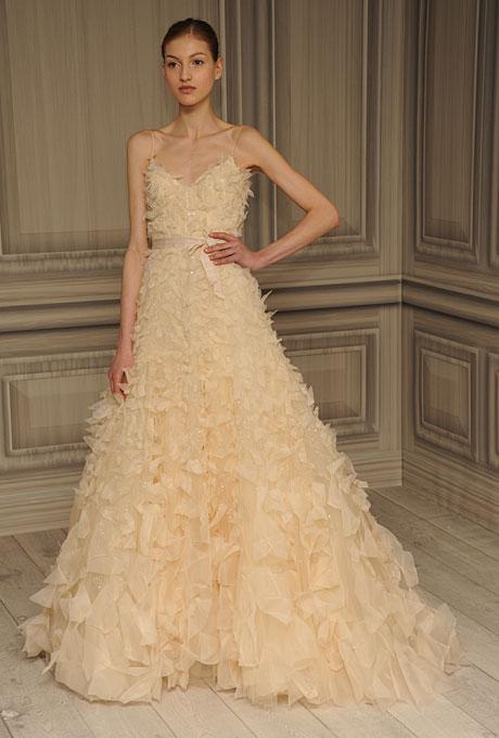 monique lhuillier bridal spring 2012 13?w460 - Gelinlik Modelleri