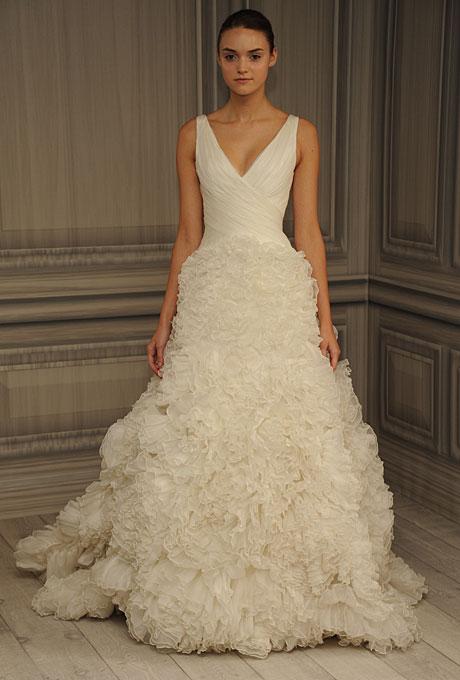 monique lhuillier bridal spring 2012 15?w460 - Gelinlik Modelleri
