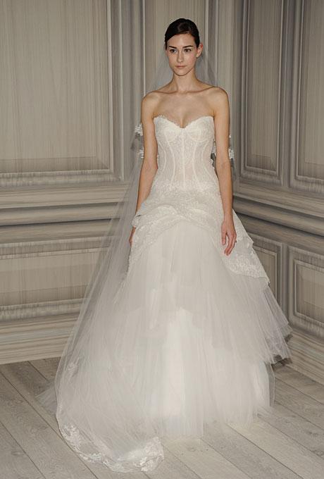 monique lhuillier bridal spring 2012 8?w460 - Gelinlik Modelleri