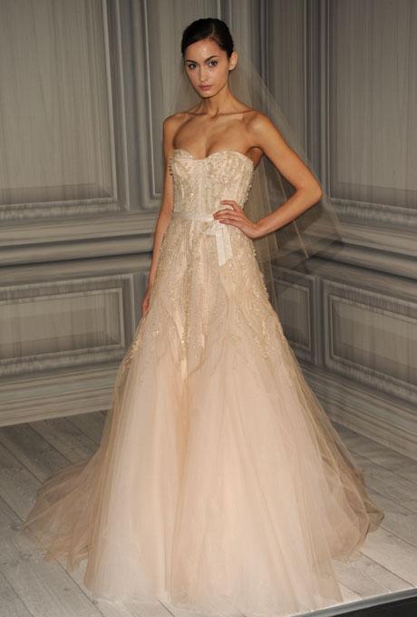 monique lhuillier bridal spring 2012 9?w460 - Gelinlik Modelleri