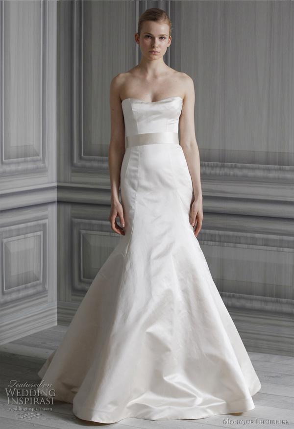 monique lhuillier spring 2012 bridal gown?w600 - Gelinlik Modelleri