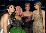 Singers-Selena-Gomez_-Nicki-Minaj_-Katy-Perry_-and-Taylor-Swift-pose-in-the-audience-during-the-2011-American-Music-Awards