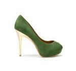 zara yeşil süet ayakkabı