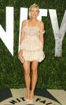 Maria Sharapova teamed her sexy dress with a pair of Alexander McQueen pumps