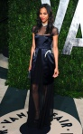 Zoe Saldana in a Marios Schwab FallWinter 2012 dress.