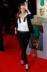 Angelina Jolie arrives at the British Academy of Film and Arts (BAFTA) awards ceremony at the Royal Opera House in London